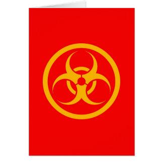 Red and Yellow Bio Hazard Circle Cards