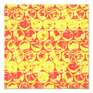 Red and yellow bubble wrap pop art photo print