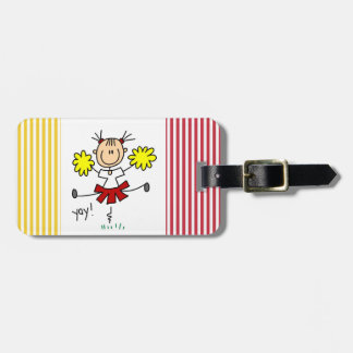 Red and Yellow Cheerleader T-shirts and GIfts Luggage Tag