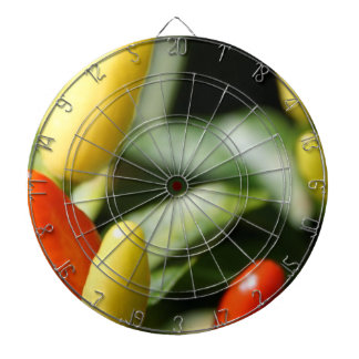 Red and Yellow Chilli Plant Dartboard