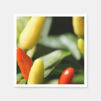 Red and Yellow Chilli Plant Disposable Napkin