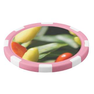 Red and Yellow Chilli Plant Poker Chips