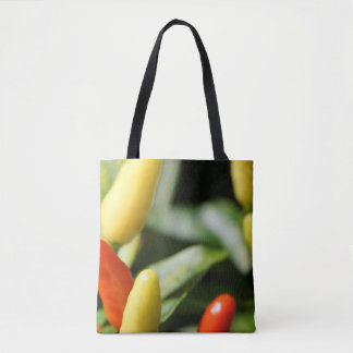 Red and Yellow Chilli Plant Tote Bag