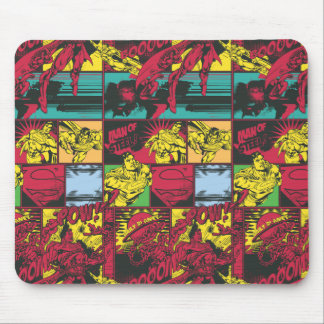 Red and Yellow Comic Art Mouse Pad