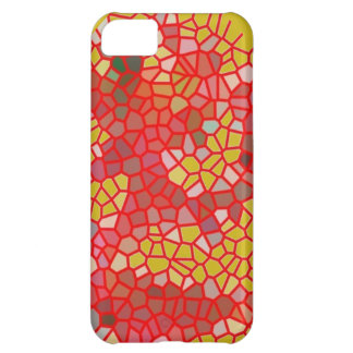 Red And Yellow Crackle Cover For iPhone 5C