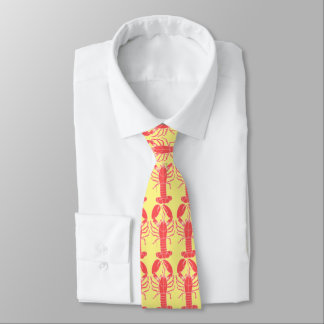 Red and Yellow Crawfish Tie