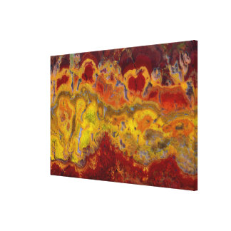Red and yellow Crayloa Jasper Canvas Print