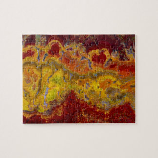 Red and yellow Crayloa Jasper Jigsaw Puzzle