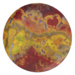 Red and yellow Crayloa Jasper Plate
