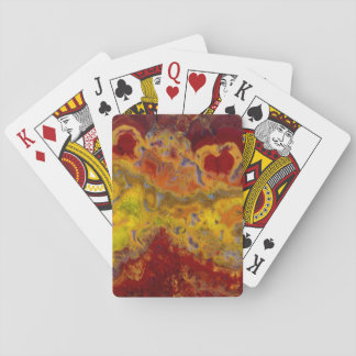 Red and yellow Crayloa Jasper Poker Deck