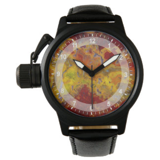 Red and yellow Crayloa Jasper Watch