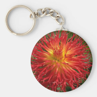 Red And Yellow Crazy Dahlia Multiple Items Basic Round Button Keychain