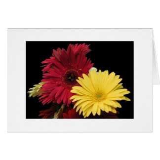 "Red and Yellow Dahlias"" Card"