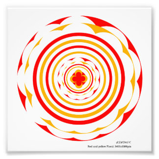 Red and yellow floral design_ack photo print
