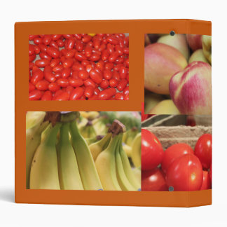 red and yellow fruits and vegetables 3 ring binder