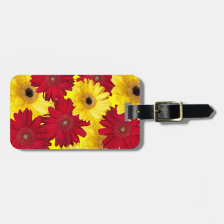 Red and Yellow Gerber Daisy Photograph Bag Tag