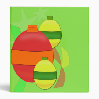 Red and Yellow Glass Bulb Christmas Tree Ornament Binders