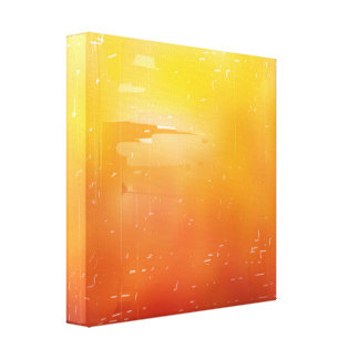Red and Yellow Gradient Canvas Print