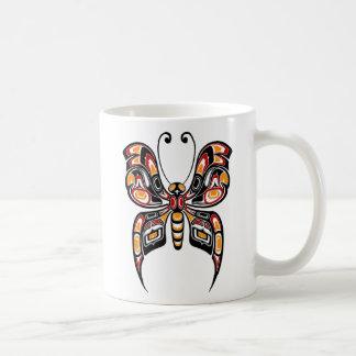 Red and Yellow Haida Spirit Butterfly Coffee Mug