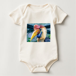 Red and Yellow Hornbill Baby Bodysuit