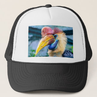 Red and Yellow Hornbill Trucker Hat