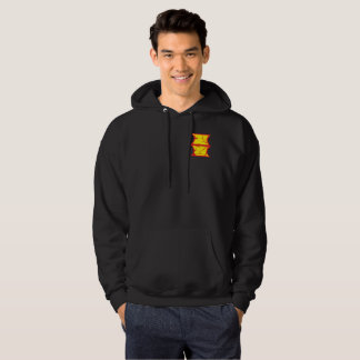 red and yellow logo hoodie