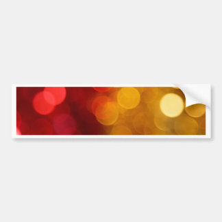 Red and Yellow Out of Focus Bumper Sticker