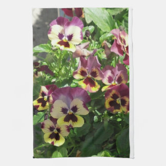 Red and Yellow Pansies 2013 Kitchen Towel