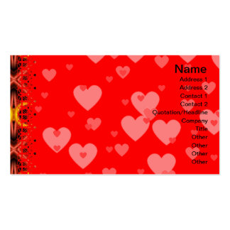 Red and Yellow Pattern Big Business Card