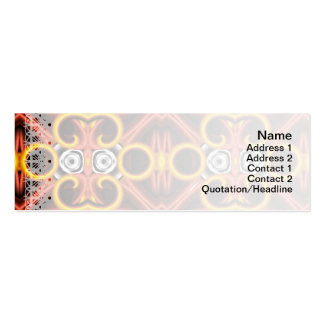 Red and Yellow Pattern Big Pack Of Skinny Business Cards