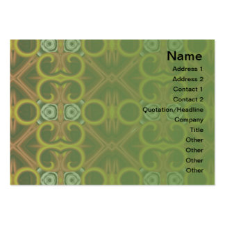 Red and Yellow Pattern Big Large Business Card