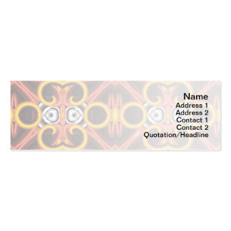 Red and Yellow Pattern Big Mini Business Card