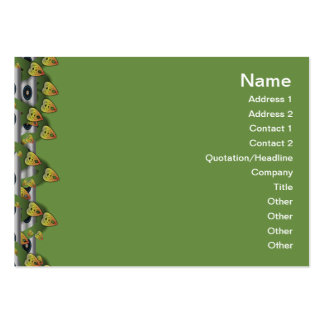 Red and Yellow Pattern Big Pack Of Chubby Business Cards