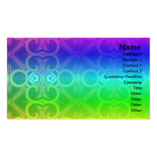 Red and Yellow Pattern Big Pack Of Standard Business Cards