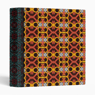 Red and Yellow Pattern Small Binder