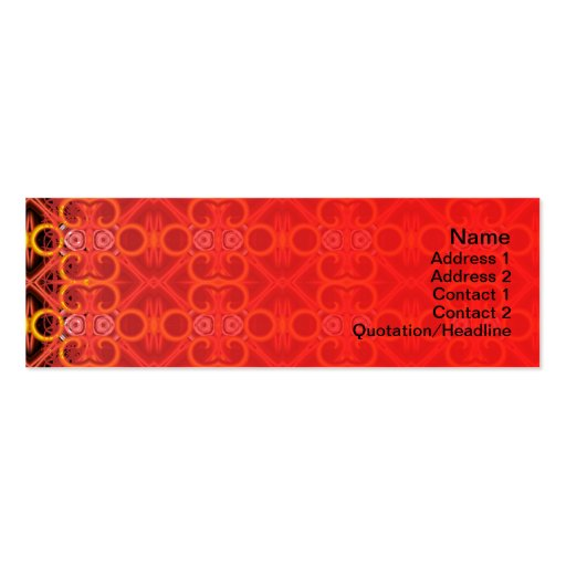 Red and Yellow Pattern Small Business Card