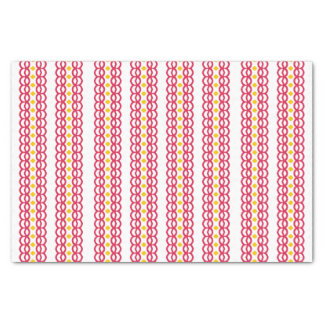 Red and Yellow Pattern Tissue Paper