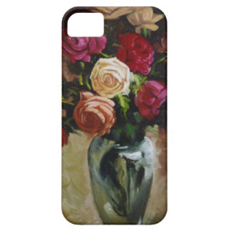 Red and Yellow Roses in Reflective Vase iPhone 5 Cases