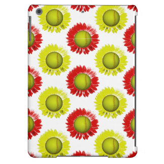 Red and Yellow Softball Flower Pattern iPad Air Cases