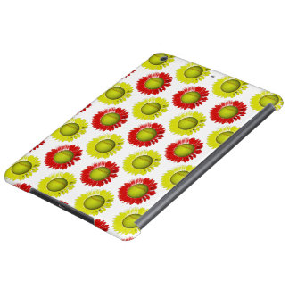 Red and Yellow Softball Flower Pattern iPad Air Covers