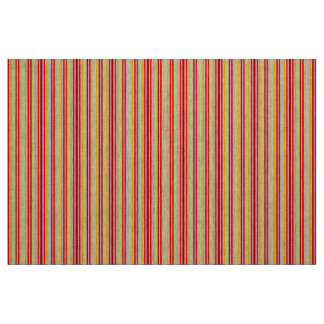Red and Yellow Stripe Material Fabric