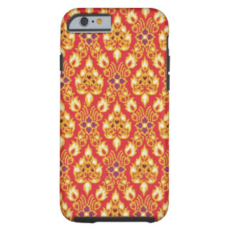 Red and Yellow Tapestry Tough iPhone 6 Case