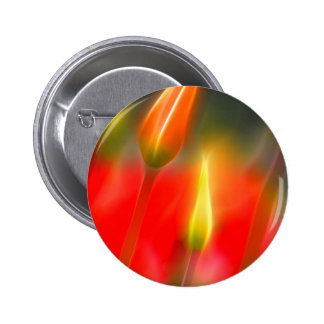 Red and Yellow Tulip Glow 2 Inch Round Button