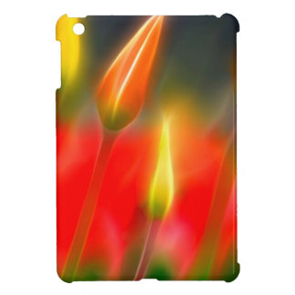 Red and Yellow Tulip Glow Case For The iPad Mini