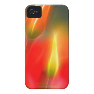 Red and Yellow Tulip Glow Case-Mate iPhone 4 Cases