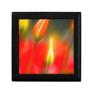 Red and Yellow Tulip Glow Gift Box