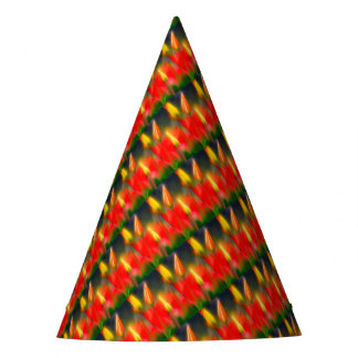 Red and Yellow Tulip Glow Party Hat