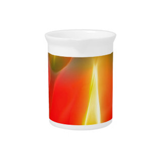 Red and Yellow Tulip Glow Pitcher