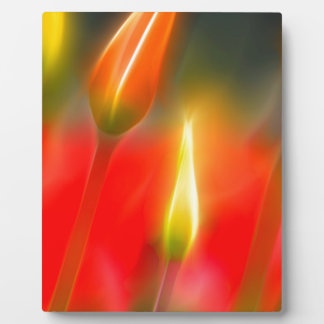Red and Yellow Tulip Glow Plaque