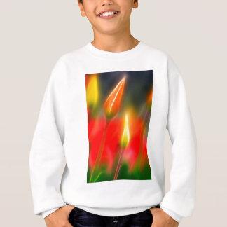 Red and Yellow Tulip Glow Sweatshirt